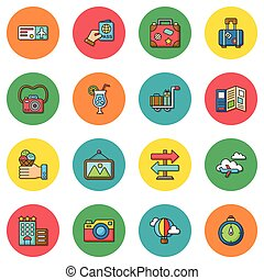 icon set travel