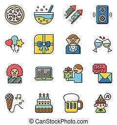 icon set party