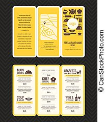 Modern Restaurant menu design pamphlet template - Modern...