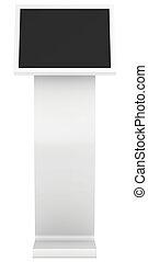 information kiosk. Terminal. interactive kiosk on white...
