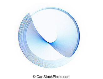 blue circle in motion, rotating