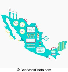 Map of Mexico machine