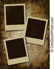 vintage instant photo frames - polaroid retro photo...