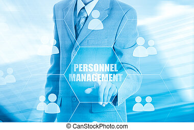 Human resources, CRM Concept personnel management - Human...
