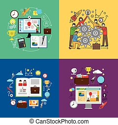 Web education and team learning concepts - Web education or...