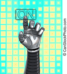 Robot Hand Switch On