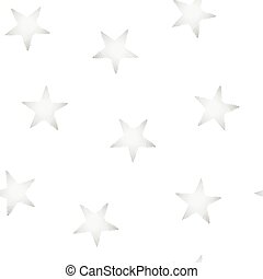 Silver stars embroidery stitching seamless pattern .