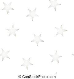 Silver stars embroidery stitching seamless pattern