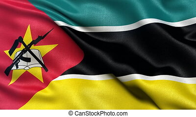 Ghana flag seamless loop - Seamless loop of flag of Ghana...