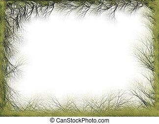 Abstract spring nature border