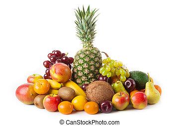 白色, 被隔离, 水果
