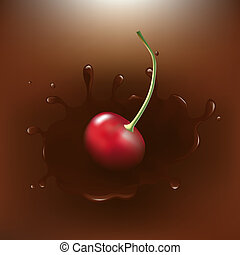 Chocolate-dipped Cherry With Splash