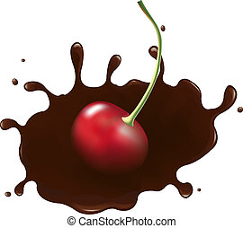 Cherry In Chocolate Splash