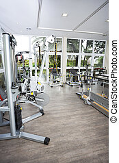 Fitness Machines Of Rehab Center - Fitness machines in...