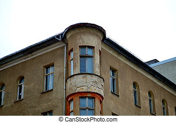 old facade of a residential building