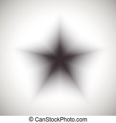 star shape dotted background - abstract dotted monochrome...