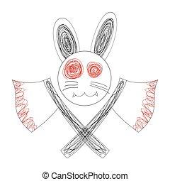 Bloody White Rabbit Axe