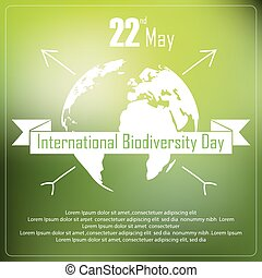 International biodiversity day - Vector illustration of...