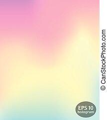 Hologram colorful background. Trendy modern design for...