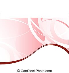 A pink business card, brochure cover or presentation vector background