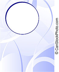 A blue business card, brochure cover or presentation vector background