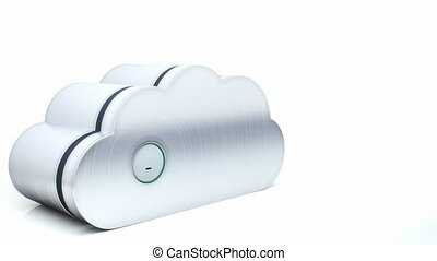 Secure cloud computing concept 3D - Cloud storage technology...