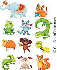 animal set - vector illustration of a animal set
