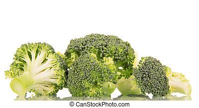 Fresh raw broccoli isolated on white - Fresh raw broccoli...