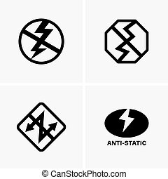 Anti-static icons