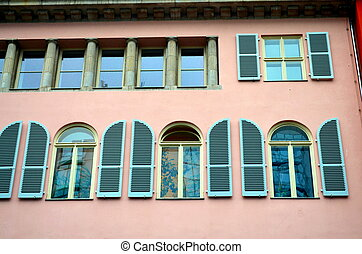 neoclassicism facade in berlin - neoclassicism with windows...