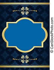 vector card with blue pattern