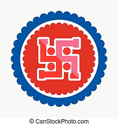 Swastika Symbol Vector Icon - Hinduism Swastika Symbol...