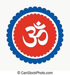 Aum Symbol Vector Icon