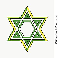 Vintage Star of David Vector Illustration