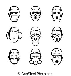 Occupational safety icons - Occupational safety. Safety...