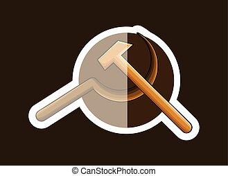 Communist Symbol Sticker Vector Illustration