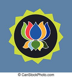 Colorful Ayyavazhi Symbol Vector Illustration