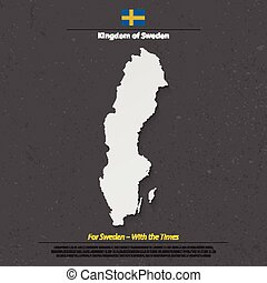sweden shadow - Kingdom of Sweden isolated map and official...