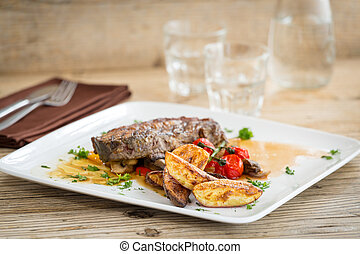 Delicious beef meat with sweet potatoes - Delicious well...