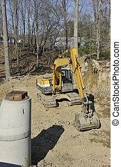 Excavator at a Build Site
