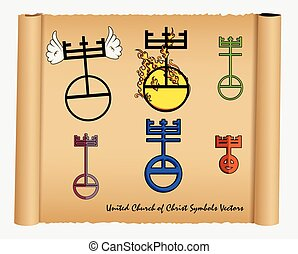 Set of United Church of Christ Icon - Set of United Church...