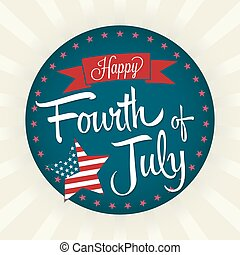Happy Fourth of July - Fourth of July Vector Illustration...