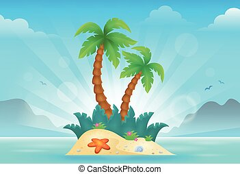 Tropical island theme