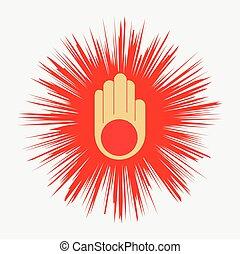 Jainism Spiritual Vector Symbol Design