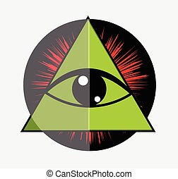 Eye Of Providence Vector Illustration Graphic
