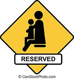 reserved place for parents with children sign icon vector