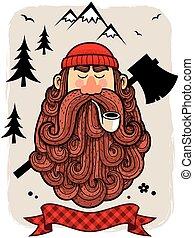 Lumberjack - Illustration of lumberjack.