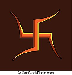 Gammadion Cross Symbol Vector Illustration