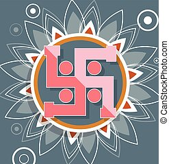 Hinduism Swastik Background Vector Illustration