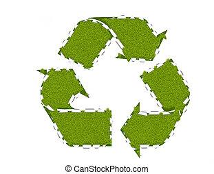 Recycling breakthrough, environmental concept, abstract...